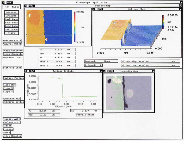Step Height Measurement For Thin Film Or Coating Thickness